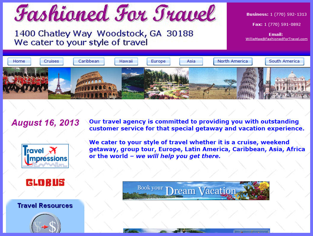 Fashioned For Travel , LLC  Woodstock , GA 30188